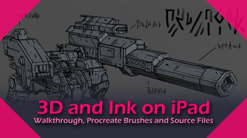mdk - 3D and Ink on iPad - Walkthrough, Procreate Brushes and Source Files