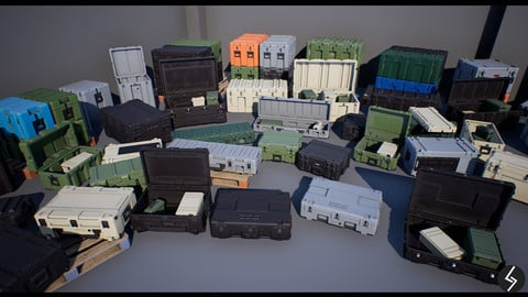 Military Cases Pack (UE4, Unity)