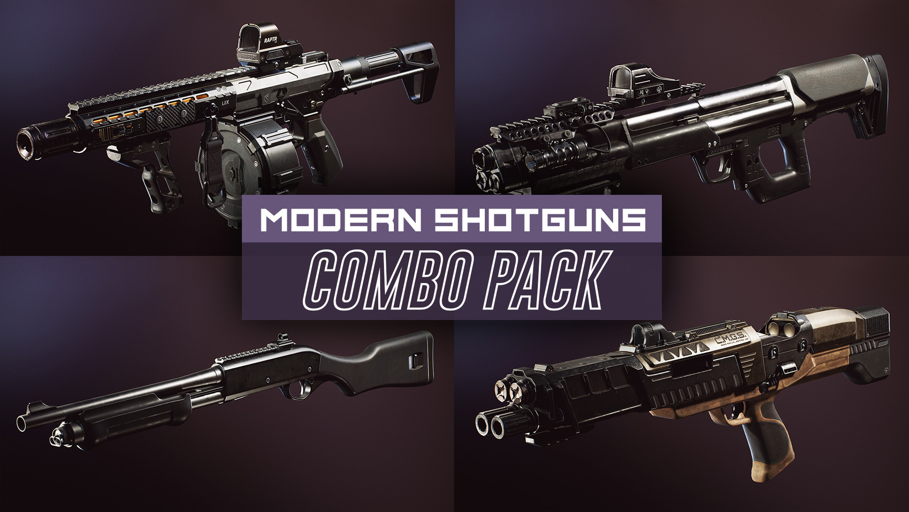 Dekogon Studios - Modern Shotgun Weapons FPS COMBO PACK [UE4+RAW]