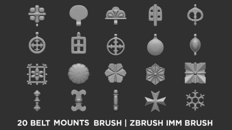Belt Mounts - zBrush IMM