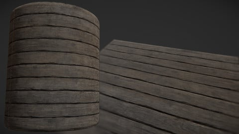 PBR Texture Wood Planks