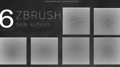6 HQ ALPHA SKIN - ZBRUSH