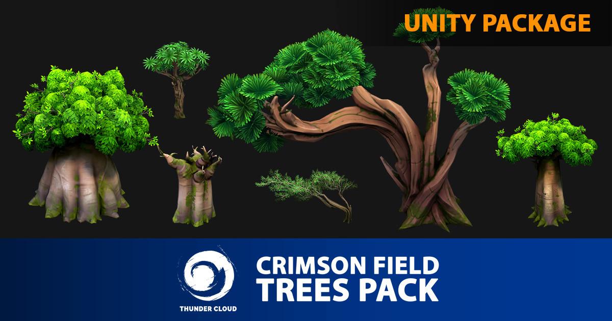 Dzung Phung Dinh Art - Crimson Field Landscape Trees pack - Unity