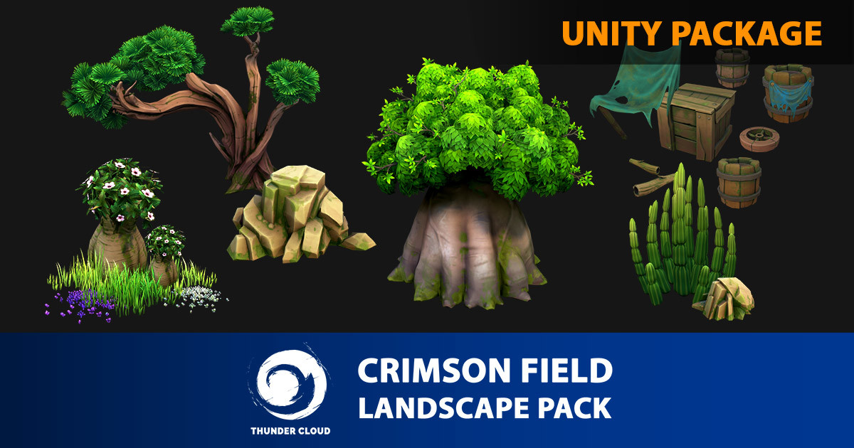 Dzung Phung Dinh Art - Crimson Field Landscape Full Pack - Unity