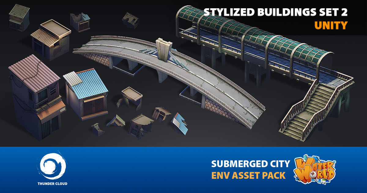 Dzung Phung Dinh Art - Water World Submerged City Asset Pack