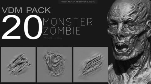 Zbrush - Zombie/Monster VDM PACK