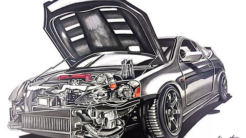 Honda Integra Type R DC5 Drawing