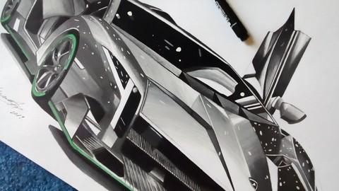 Lamborghini Veneno Drawing