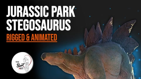 Stegosaurus for your Games or Animations Blender 3D Model (Rigged & Animated) || The Bart Art ||