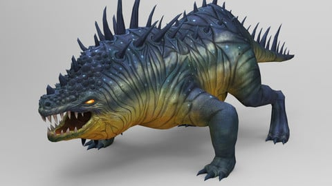 Comodo Dragon Game monster Low-poly 3D model