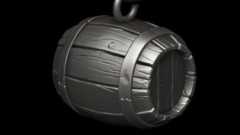 3D Barrel necklace