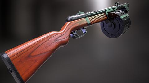 Shotgun Weapon Low Poly