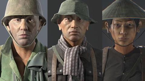 VietnamWar soldier bundles