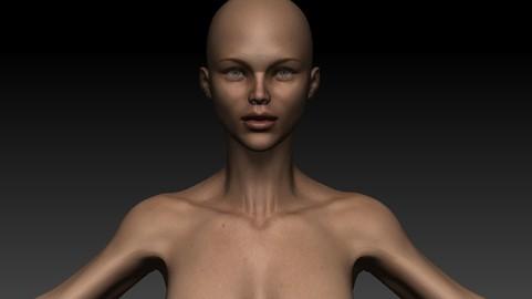 Female Basemesh - Stefania with UV maps