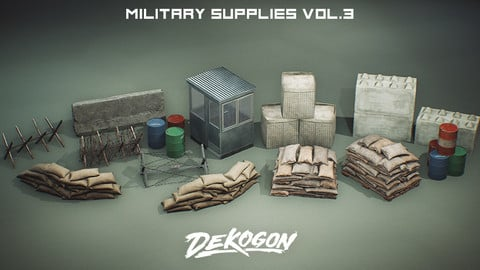 Military Supply Props VOL. 3 (UE4+RAW)