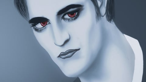 Edward (Twilight) || Edward (Robert Pattinson) portrait || Digital Drawing No. 46 ||