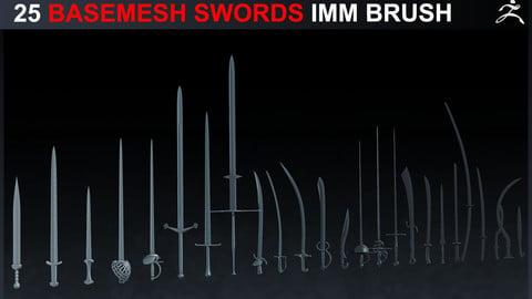 25 IMM Basemesh Swords + OBJs