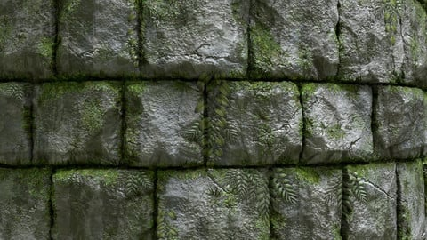 Jungle Stone Wall .sbs .sbsar