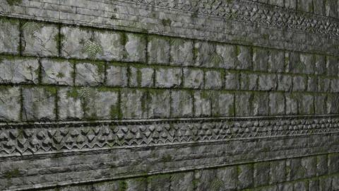 Mayan Jungle Stone Wall Trim Sheet