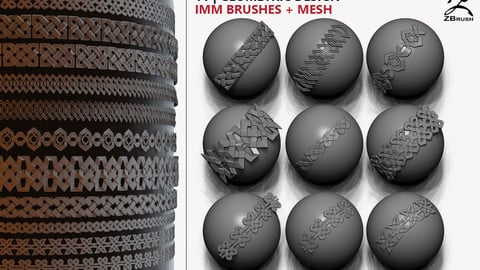 geometric design iMM brushes + mesh