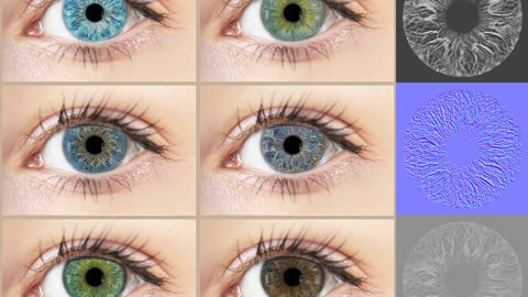 Eye Iris Texture Maps - Vol 01