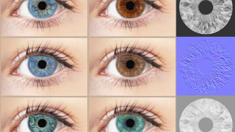 Eye Iris Texture Maps - Vol 02