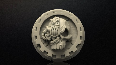 Adeptus Mechanicus Logo Print Model
