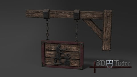 Medieval Blacksmith Sign