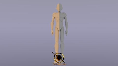 Male Rigged Doll