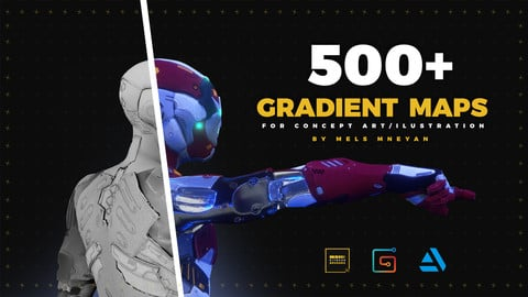 500+ Gradient Maps for concept art/illustration