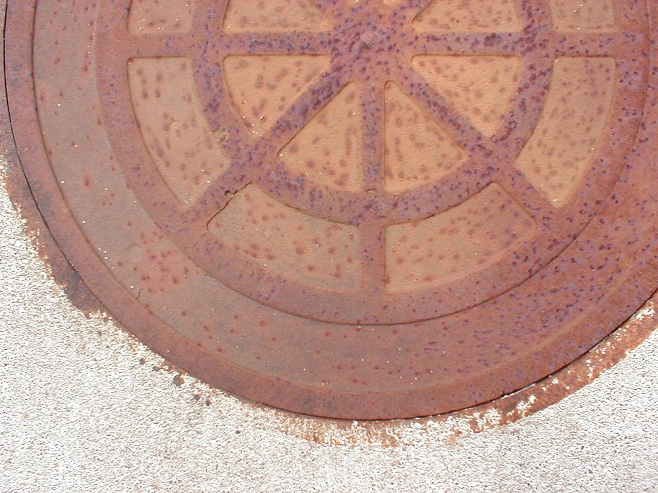 Rusty ol Manhole Cover is available for purchase!
