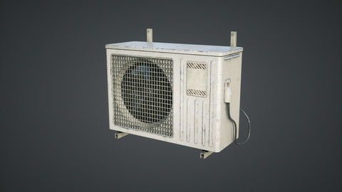 External air conditioner Low-poly 3D model