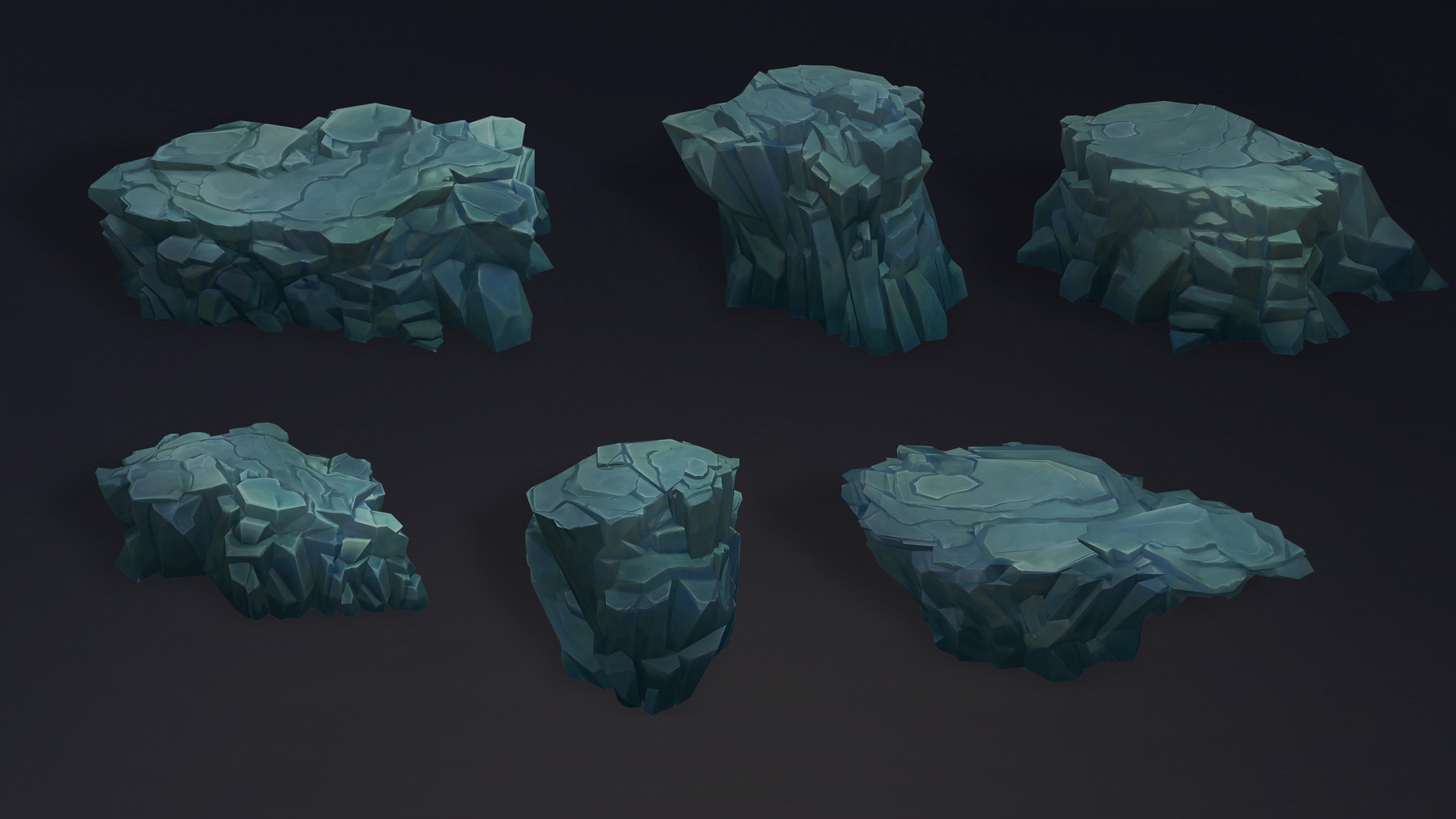 Dzung Phung Dinh Art - Demon Dungeon Rock Pack – Stylized Props Unity