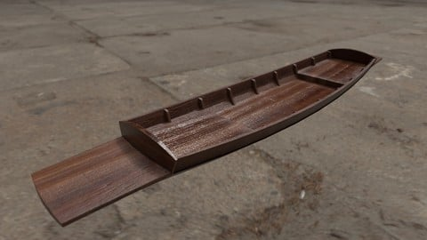 Thai  wooden boat