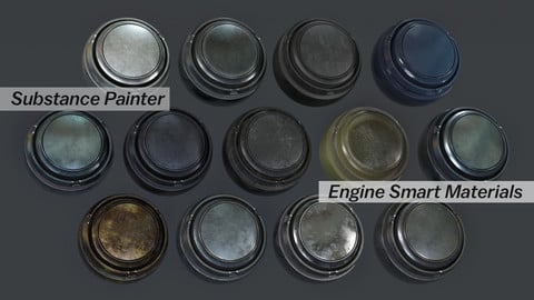 13 Substance Painter Engine Metal Automotive Smart Materials