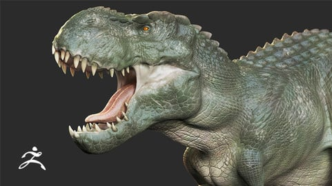 Realistic Dinosaur Sculpting & Texturing in Zbrush for Film