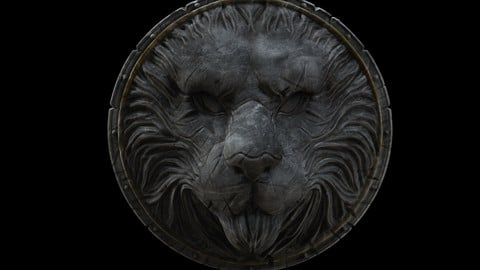 Lion Shield for game or movie