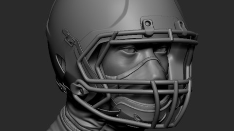 Football Helmet 3D printable Zbrush file