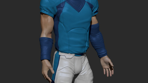 football Uniform with UV, Textures
