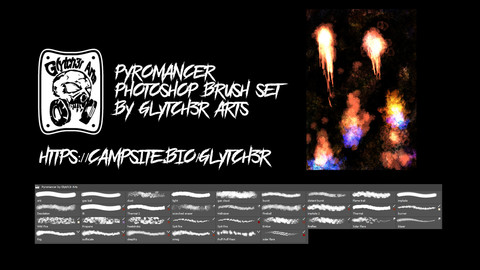 Pyromancer - Photoshop Brush Set by Glytch3r Arts