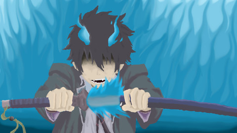 Rin from Blue exorcist Drawing