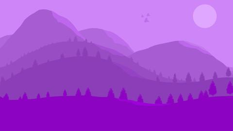 Purple 2D Landscape
