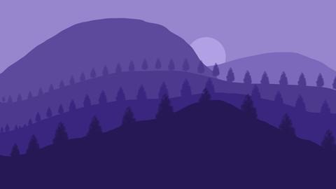 Blue 2D Landscape