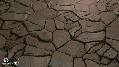 Broken Ground Material | Substance Designer Graph