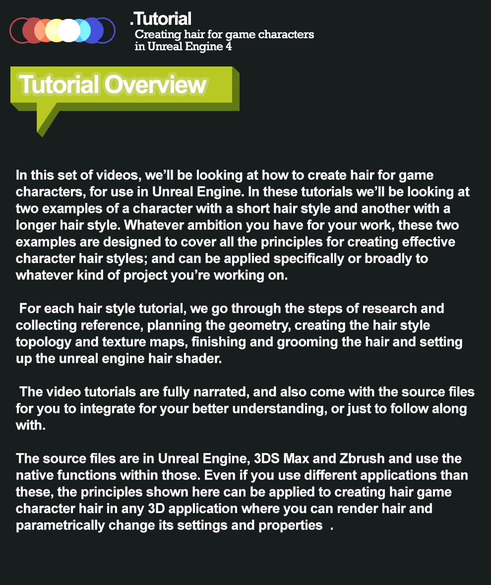 Tom Elgon - Video Tutorial Series - How to create hair for