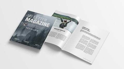 US Letter Magazine Mockup