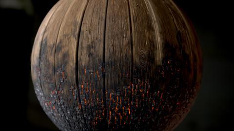 Burnt Wood Planks Material | Substance Designer