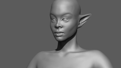 Thick Black Elf Base Mesh