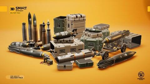 UE4: Battle Tank Military Pack