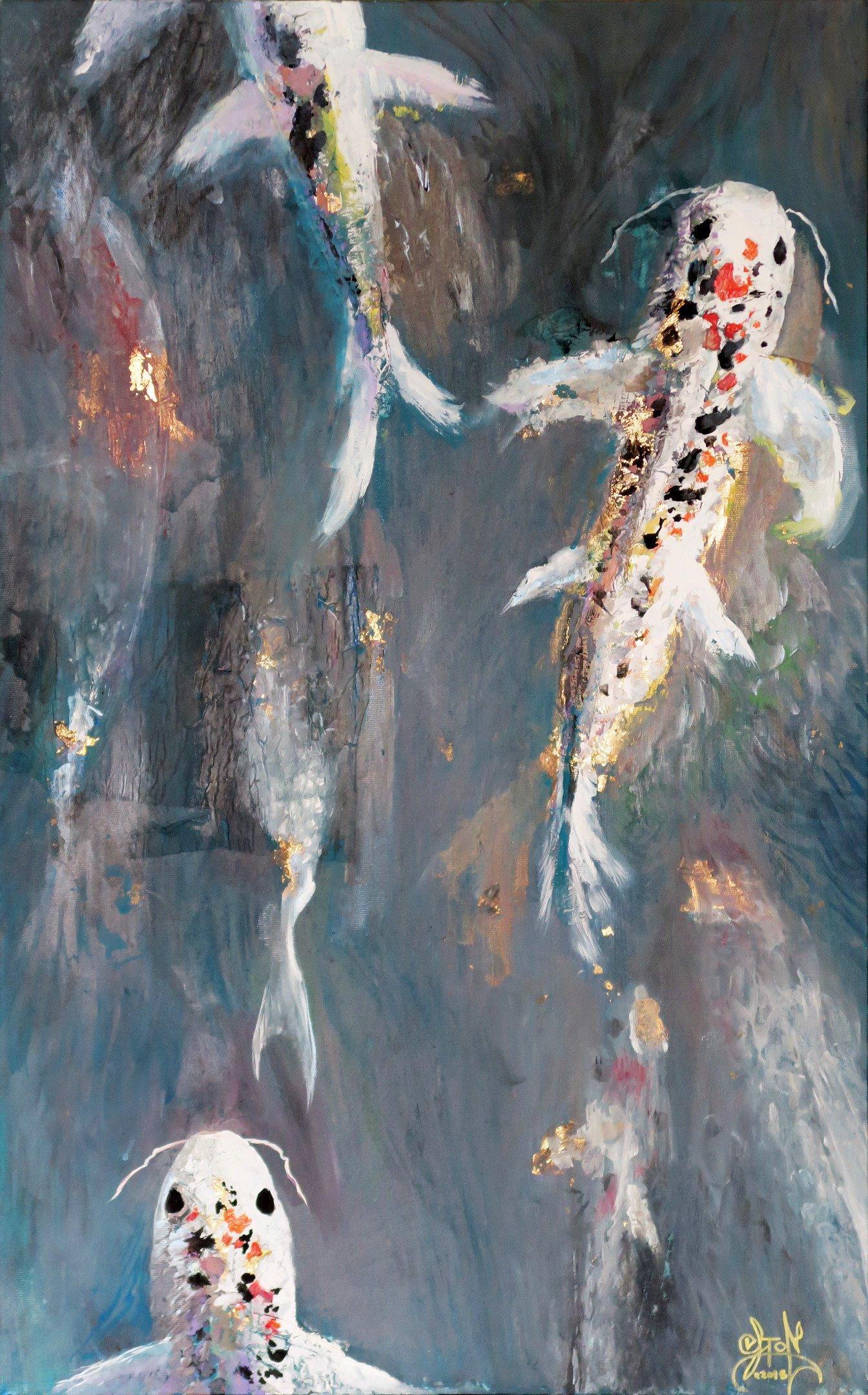 Koi Fish And Japan Wallpaper Art Pack 2